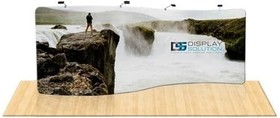Featured 20ft serpentine tension fabric display 1