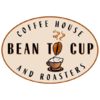 Thumb bean to cup coffee house logo